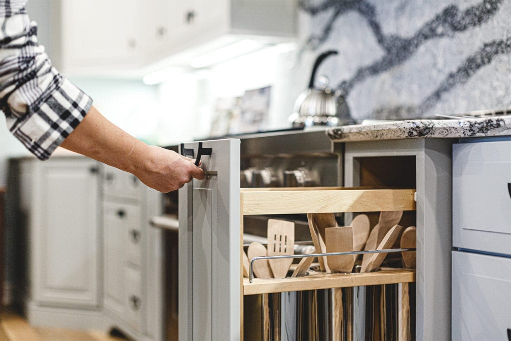 Custom Cabinet Storage Space